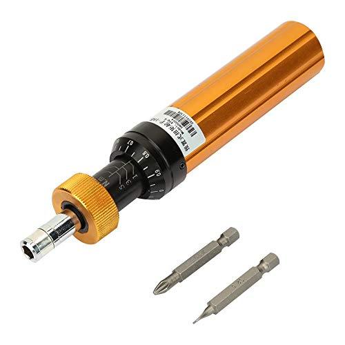 Destornillador dinamométrico, acero de aleación Tipo preajustado Destornillador preajustado ajustable Herramienta de mantenimiento de mano de tipo prefabricado de par ajustable (1Nm a 6Nm)