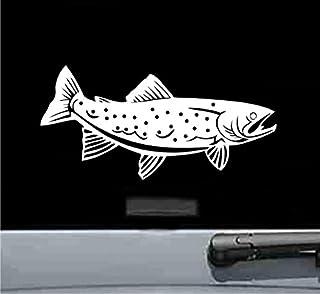 850be18c JS Artworks Rainbow Trout Fish Vinyl Decal Sticker (White)