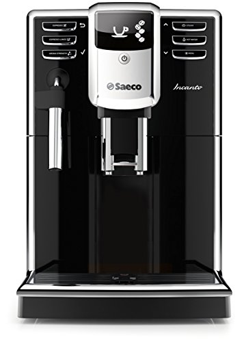 Saeco Incanto Classic Milk Frother Super Automatic Espresso Machine with AquaClean Filter, 1.8 L, Black