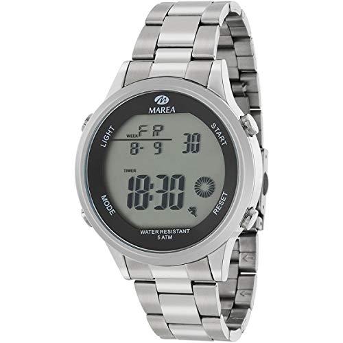 Marea B35302/3 Reloj para Hombre con Armis de Acero y Pantalla Digital
