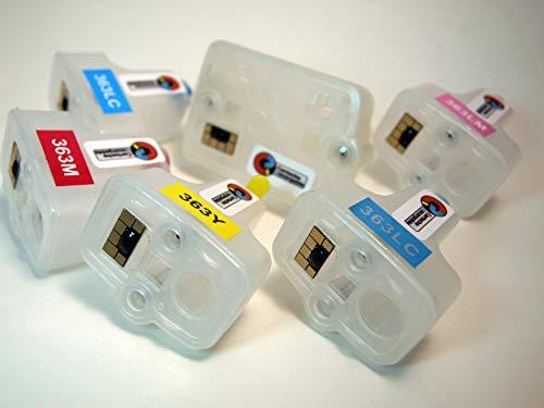 363 Lot de Cartouches Rechargeables + kit de Cartouches d'encre pour la série 363XL pour imprimantes H.P.