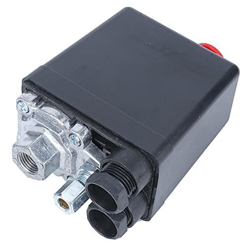 Interruptor de presión del compresor de aire, válvula de control del conjunto del interruptor de presión de un solo orificio para compresor de aire y herramientas aire 0.5-1.2MPa (72.5 ~ 175psi) 22