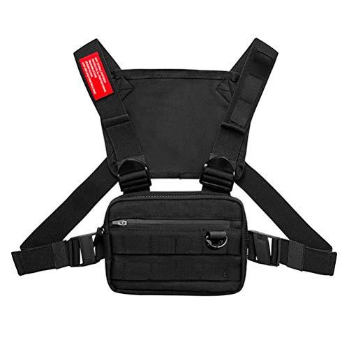 Pechera Pequeño pecho Rig bolso al aire libre Streetwear la correa del chaleco del pecho empaqueta para el pecho de los hombres WomenSport bolsillo bolsa