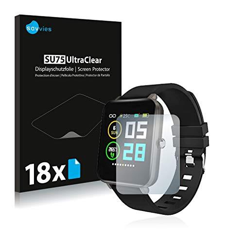 Savvies 18x Schutzfolie kompatibel mit Zagzog Fitness Tracker 1.54
