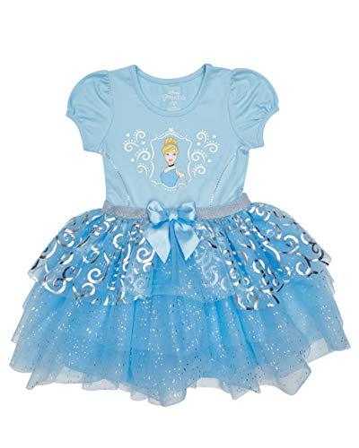 Disney Infant Baby Girl Princesses Belle Cinderella Tutu Dress, Blue, 18 Months