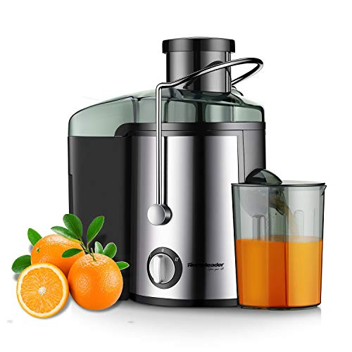 Juicer Juice Extractor, Homeleader Stainless Steel Centrifugal Juicer with 3'' Wide Mouth, for Fruits and Vegetables, BPA-FREE