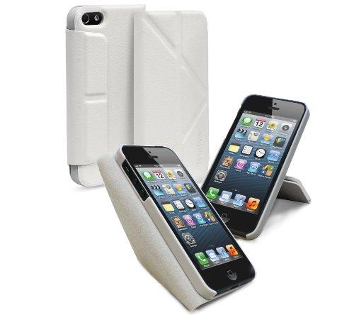GreatShield gs03018 Folio - Custodia per cellulare (Folio, Apple, iPhone 5, colore: Bianco