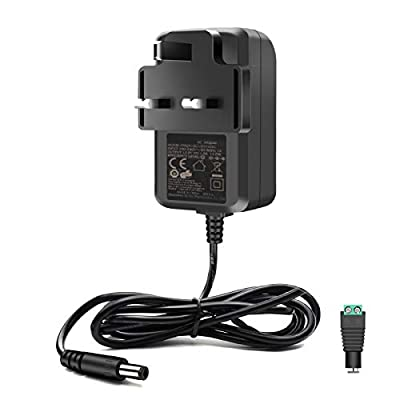 12V 1A LED Power Supply Power Adapter 100-240V AC to 12V DC 12W Wall UK Plug Charger LED Power Cable Transformer for 12V 3528/5050 LED Strip Light CCTV Camera