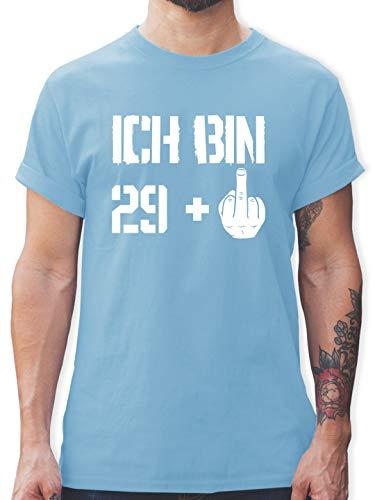Geburtstag - Ich Bin 29 + - M - Hellblau - Shirt 30 Geburtstag - L190 - Tshirt Herren und Männer T-Shirts