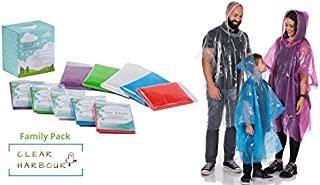 Clear Harbour Emergency Poncho Family Pack