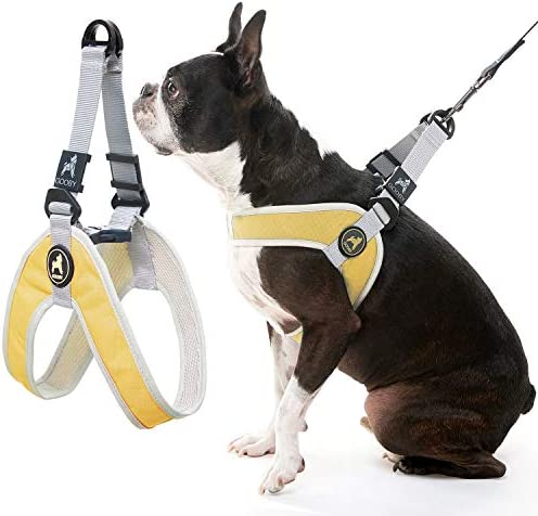 Gooby Dog Harness Yellow Medium Simple Step in Harness III Small Dog Harness Scratch Resistant product image