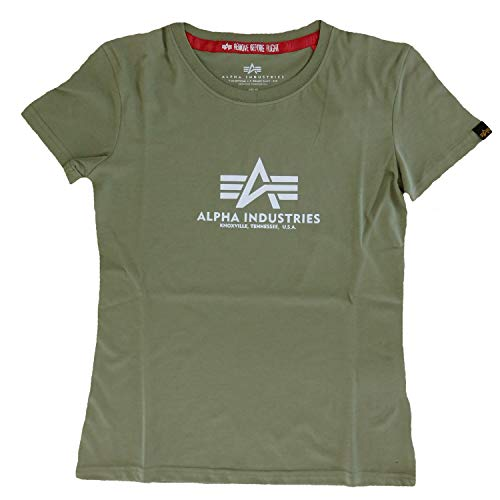 Alpha Industries New Basic T - Camiseta para mujer (talla XS), color verde