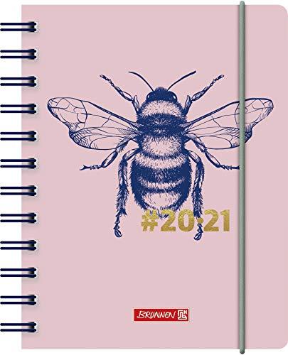 """BRUNNEN 1071750021 """"#Harmony Bumblebee"""" Tageskalender/Schülerkalender 2020/2021, 1 Seite = 1 Tag, Sa. + So. auf einer Seite , Blattgröße 12 x 16 cm , A6 , PP-Einband"""