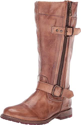 Bed|Stu Women's Gogo Lug Wide Calf Leather Boot (10, Tan Rustic)