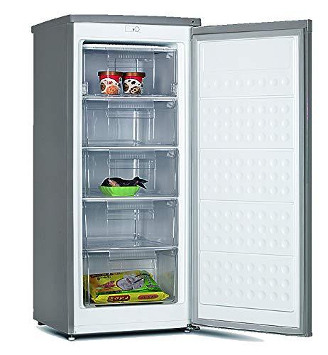 Congelador vertical ? Infiniton CV-128, 140L, Cíclico, 5 cajones XL, A++, 1,25m de alto, Inox