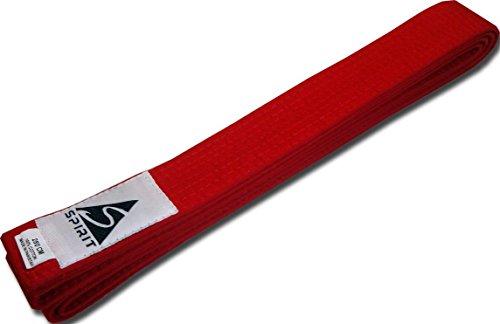 Cinturones de artes marciales de Spirit, color rojo, tamaño 240 cm