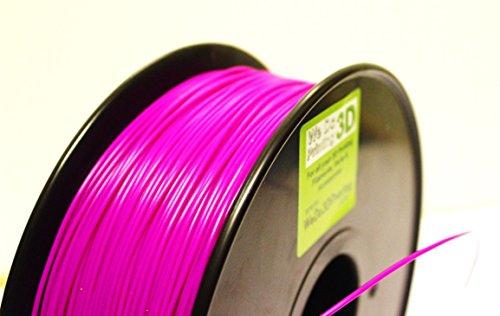 Filamento PLA per stampante 3D, 1,75 mm, viola, alta tolleranza, ampia temperatura di funzionamento, 300grms(100m), Viola, 10