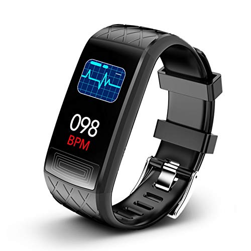 LXF JIAJU Smart Watch, Step Countor Tasa del Corazón Monitoreo De La Presión Arterial IP67 Impermeable Smart Pulsera Pedómetro Pulsera Niño (Color : Black)