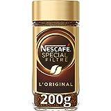 Nescafé SPECIAL FILTRE RECETTE ORIGINALE DE RETOUR, Café Soluble, Flacon de 200g