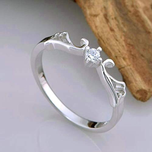 KnSam Ring Band Frau Partnerringe Für Frauen Kupfer Versilber Flügel Silber Ring Valentinstag Gedenkenstag Geschenk