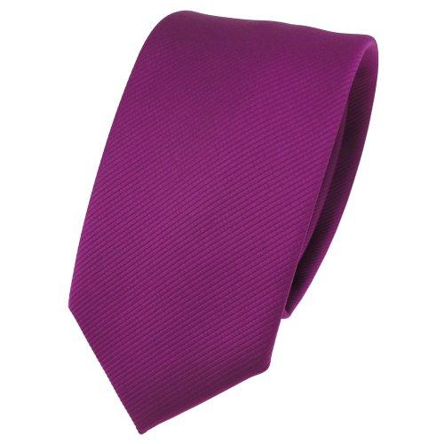 TigerTie - corbata estrecha - magenta fuchsia violeta monocromo Rips