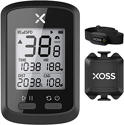 XOSS G + Computadora para Bicicleta Inalámbrico GPS Computadora de Ciclo Impermeable Velocímetro Bicicleta de Carretera Bicicleta MTB Bluetooth Ant + con cadencia Computadoras de Ciclismo (Combo 4)
