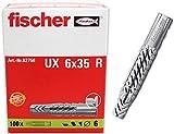 Fischer J600506 Taco Nylon Ux 6X35 R (Envase de 100 Ud.), 6 x 35, Set Piezas