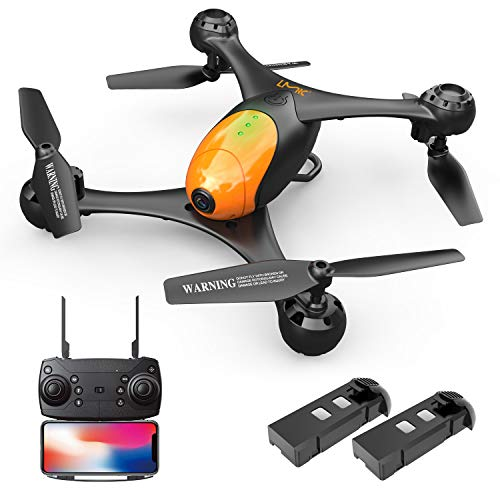 LMRC LM06 FPV Drone with 1080P HD Camera 2 Batteries 26 min Flight Time,RC Quadcopter,Double Camera,Optical Flow,Altitude Hold,Headless Mode,One Key Take Off/Landing,WiFi Live Video,360 Flips
