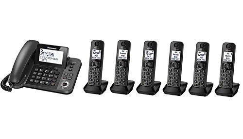 Panasonic KX-TGF353M plus three KX-TGFA30M handsets DECT 6.0 Plus Corded / Cordless 6-Handset Landline Telephone System (Renewed) (KX-TGF353N+3, KX-TGF352N+4, KX-TGF350N+5)