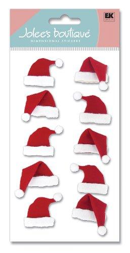 Jolee's Boutique dreidimensionale Aufkleber, Weihnachtsmützen