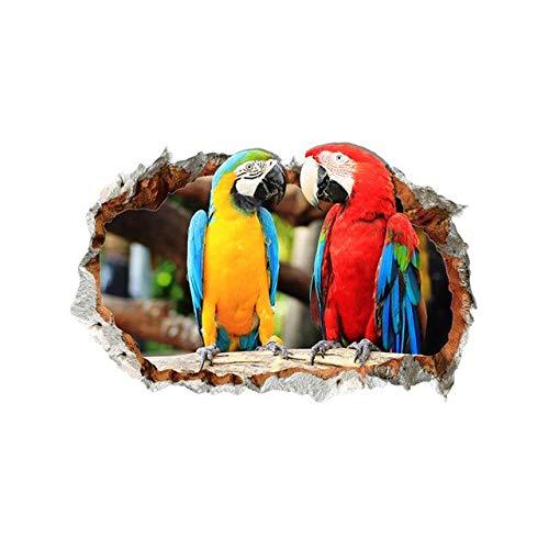 Papagei Muursticker Home Decor Dieren Muurtattoos Muurschildering Kinderkamer Woonkamer Slaapkamer Decoratieve stickers