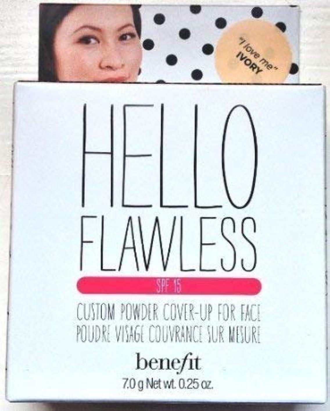 抜け目のない屈辱する魔法Benefit Cosmetics Hello Flawless Custom Powder Cover-Up For Face - I Love Me Ivory 7.0g / 0.25oz [並行輸入品]