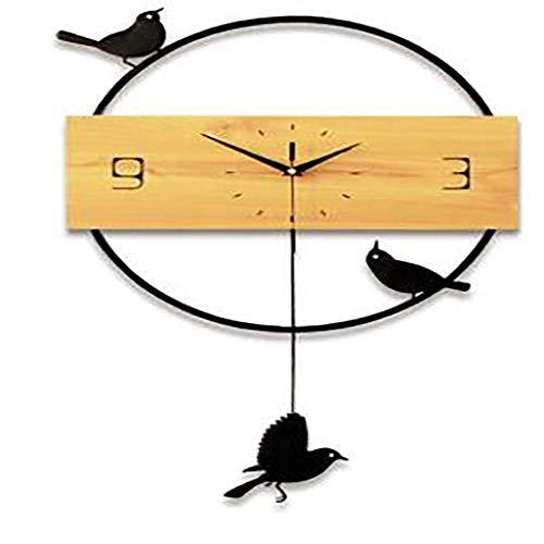 wall clock Birdie Swing Horloge Murale Sourdine Protection De L'Environnement Horloge Quartz Décoration De La Maison Horloge Chambre Salon