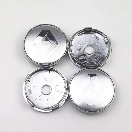 Para cubiertas centrales de buje de rueda Renault Clio 4 Megane, pegatina de marca de paquete de neumáticos de coche, calcomanías de tapas de centro de rueda, pegatinas de estilo de coche