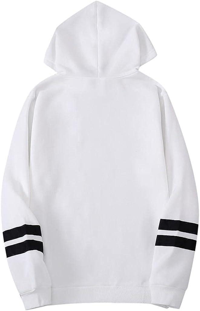 Qsctys Men's Sweatshirts Pullover Hoodies Loose Long Sleeve Crewneck Hooded Cotton Blend Lightweight Sport Workout Gym