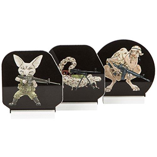 Da Grecker - Dianas para tiro con arco, diseño Target Military, pack de 3 piezas