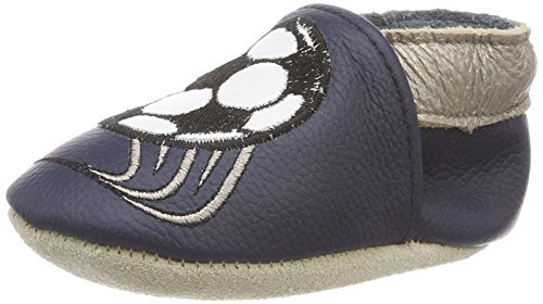 Rose & Chocolat RCC JackintheBox Baby Boys Chaussures de bébé, Multicolore (Soccer Star Navy), 18/19 EU