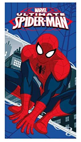 Theonoi kinderhanddoek saunahanddoek strandlaken douchehanddoek badhanddoek katoen Spiderman cadeau voor jongens (Spiderman A2)