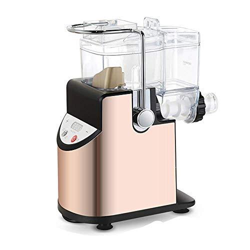 COOLSHOPY. Zarte Pasta Maker Nudel Maker Haushalt Automatische Multifunktionale Teigpressmaschine Elektrische Edelstahlteig (Farbe: Gold, Größe: 30x15x36cm)