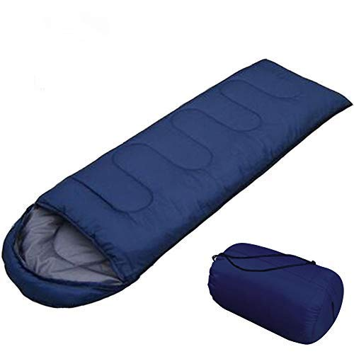 AIR BOLING Sleeping Bag, Envelope Portable and Lightweight for 2-3Season Camping, Hiking, Traveling, Backpacking and Outdoor Activities, Great for Kids, Boys, Girls, Teens & Adults, Navy Blue