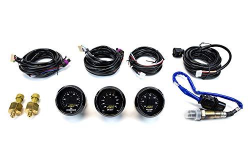 AEM 3 Gauges Combo Set UEGO WideBand A/F Ratio (30-4110) + Oil Pressure (30-4401) + Turbo Boost (30-4406)