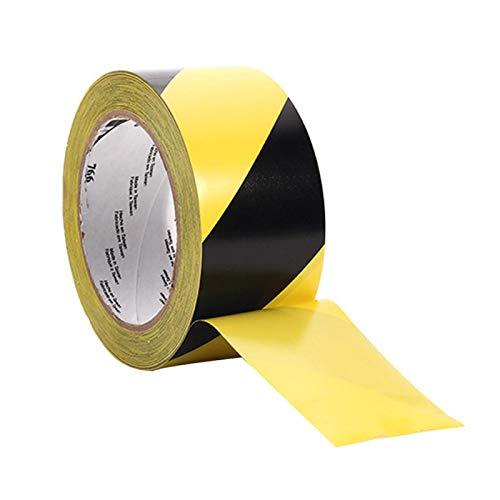 Cinta de advertencia de PVC resistente al desgaste Distancia social Amarillo Línea de piso autoadhesivo (amarillo negro)