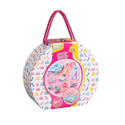 Beauty Factory Gipsfiguren selbst gemacht / Creativity Bastel-Set - Bemale Deine eigenen Handtaschen, Parfümfläschchen, Lippenstifte und Pumps aus Gips mit zauberhaften Farben und Glitzer (026025)