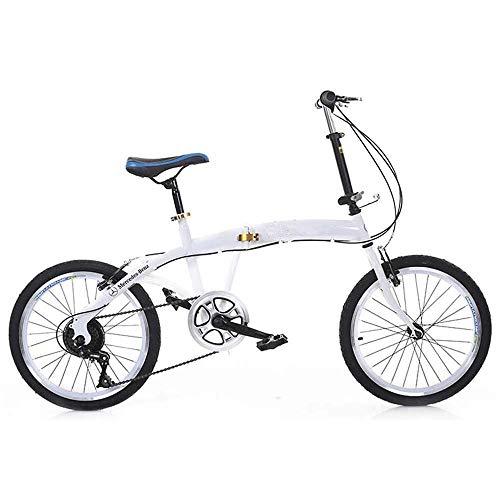 COUYY Bicicleta Plegable, Bicicleta de montaña Plegable, Marco de Acero de 21 velocidades Double Disc Disc Frenos para Hombres chocadores Off-Road Juvenil Road Ladies Racing ⭐