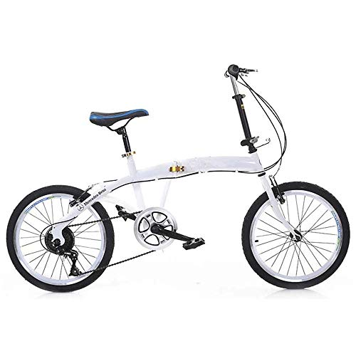 COUYY Folding bicycle, folding mountain bike, 21-speed steel frame double disc brakes shocking men's off-road youth road ladies racing