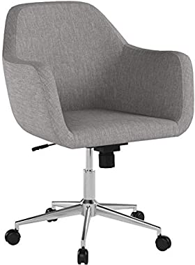 OFM ESS Collection Upholstered Home Office Desk Chair, Grey