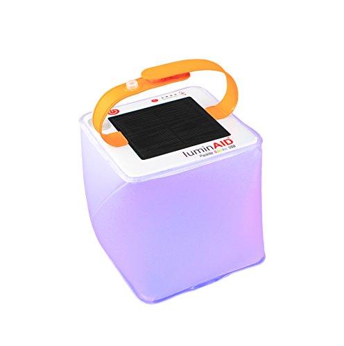 Linternas inflables solares de LuminAID | Ideal para acampar, kits de emergencia y viajes | Multicolor, alimentado por energía solar o USB