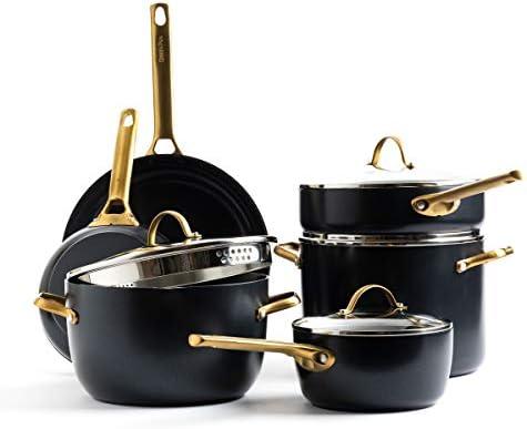 GreenPan Padova Reserve Healthy Ceramic Nonstick Cookware Pots and Pans Set 10 Piece Black product image