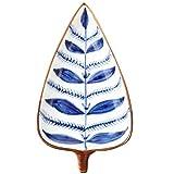 WYZQ Plato de Postre de cerámica Platos de Salsa Bandeja de bocadillos en Forma de Hoja Platos de inmersión de Alimentos Vajilla para Restaurante en casa (Patrón Aleatorio), Cuencos de Pasta
