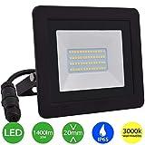 Lumare LED Strahler 20W Extraflach Flutlicht IP65 3000k für außen